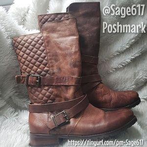 Matisse Brown Leather Distressed Vintage Loo Boot